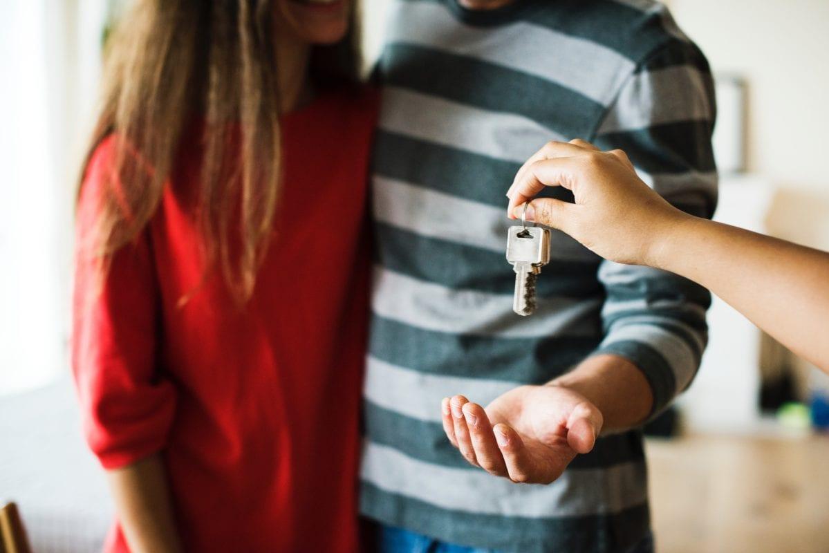 Couple receiving keys